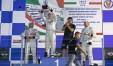 Diego Di Fabio festeggia la vittoria in Gara-Uno a Vallelunga