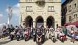 11-09-19 Repubblica di San Marini presentazione del gran premio della repubblica dio San Marino e della Riviera di Rimini lungo le stradine del vecchio borgo - le Moto E - le Moto 2 - le Moto 3 con alcuni piloti - Il gruppo nella piazza Principale  PHOTO FABRIZIO PETRANGELI