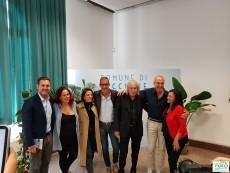 Enrico Vanzina, con i produttori