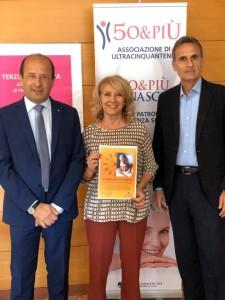 Il direttore provinciale Amerigo Varotti assieme a Patrizia Caimi (Terziario Donna) e Alberto Dolci (50 & Più)