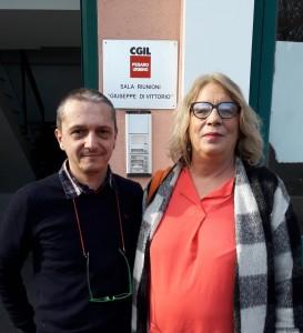 Fabrizio Bassotti e Francesca Re David