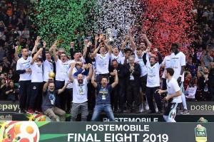 La vittoria della Coppa Italia della Vanoli Cremona nella scorsa edizione (Foto Ciamillo)