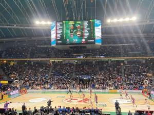 Un momento della semifinale tra Milano e Venezia