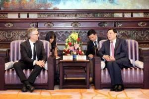 Una precedente visita istituzionale fra Marche (qui rappresentata dal Governatore Ceriscioli) e la Provincia dello Hunan