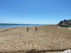 La spiaggia di Pesaro in questi giorni
