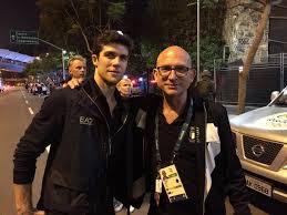 Rio  2016, Piero Benelli con Roberto Bolle