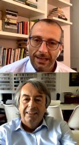 Matteo Ricci e Roberto Burioni su Instagram