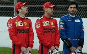Foto premonitrice con Leclerc,Vettel e Sainz