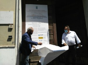 Paolini e Bartoli scoprono cartello inizio lavori