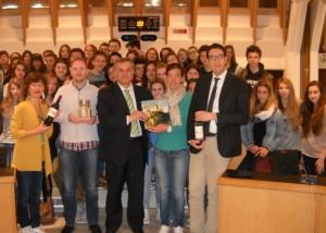Minardi e Pucci con gli studenti