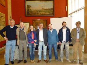 da sinistra Franco Andreatini, Alberto Pancrazi, Maria Chiara Ballerini, Pino Longobardi, Pierpaolo Bellucci, Piergiorgio Tasini, Massimo Miano.