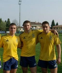 Da sinistra Boccarossa, Azzolini e Gabbianelli
