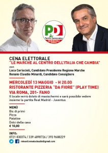 Cena elettorale con Ceriscioli e Minardi