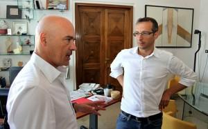 Luca Zingaretti con Matteo Ricci