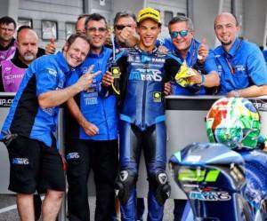 Franco Morbidelli col team (foto tratta da Fb)