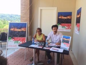 Federico Scaramucci e Carla De Angelis presentano la Festa dell'Unità di Urbino