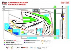 Misano World Circuit: piantina settori pubblico