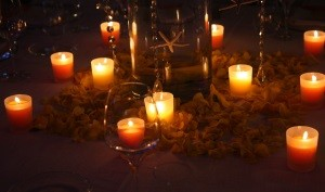 Candele in spiaggia