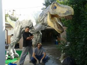 Gli ideatori de La Città dei Dinosauri Andrea Giomaro e Mirco Nicusanti