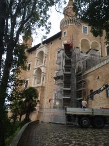 Lavori in corso ai Torricini di Palazzo Ducale