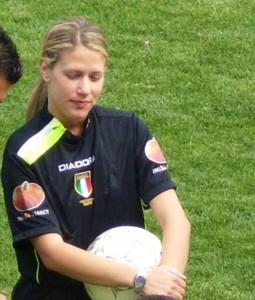 L'arbitro Francesca Campagnolo