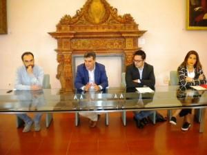 Da sinistra Samuele Mascarin, Massimo Seri, Daniele Tagliolini e Margherita Pedinelli
