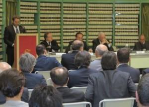 Matteoli, Nencini, Sesti e Marinello in Senato (foto federmoto.it)