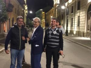 Vittorio Sgarbi ospite a Pergola del sindaco Baldelli
