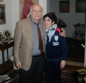 Anto Torres col professor Guido Lucarelli