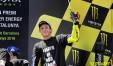 Valentino Rossi sul podio di Montmelò (foto tratta da Valentino Rossi VR46 Official)