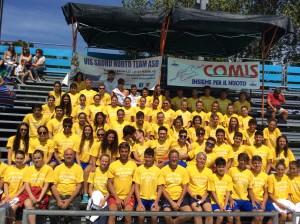 Gli atleti della Vis Sauro Nuoto Team