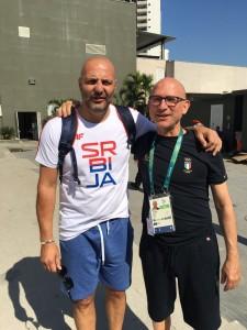 Piero Benelli a Rio De Janeiro con Aleksandar Djordjevic