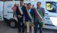 Mangialardi (a sinistra) con Seri e Matteo Ricci (a destra)