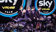 Sky Racing team sul palco di X Factor