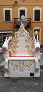"""Il """"trono"""" di Babbo Natale"""