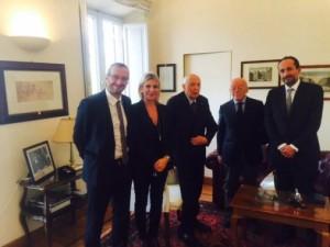 Ricci con Napolitano e i membri del comitato per il 150° di Rossini