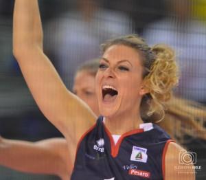 Federica Mastrodicasa, capitano della myCicero Volley Pesaro, fotografata da Eleonora Ioele