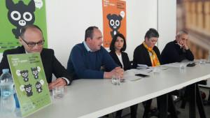 Benedetti, Vimini, Della Dora, Duchi, Venturi nella conferenza di presentazione dell'ottava edizione