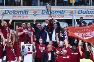 La vittoria dello scudetto di Venezia (Foto tratta dalla pagina Facebook Reyer Venezia)