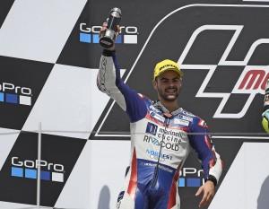 Romano Fenati sul podio del Sachsenring