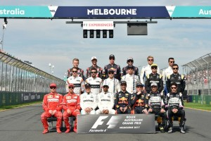 Foto di gruppo dei piloti Formula 1