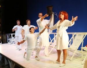 Un bel primo piano di Sofia Mchedlishvili che interpreta la Contessa di Folleville (Foto Amati Bacciardi)