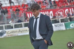 L'allenatore della Vis Pesaro Giancarlo Riolfo (Foto Filippo Baioni)