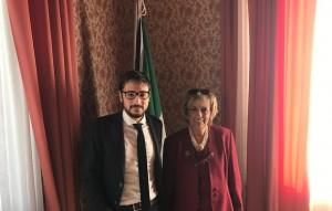 Foto del sindaco di Mondolfo Nicola Barbieri e prefetto Carla Cincarilli