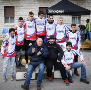 Alcuni dei vincitori del campionato regionale Enduro Mountain Bike