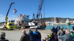 L'arrivo di Carro Rossini al Porto di Pesaro (foto Filippo Baioni)