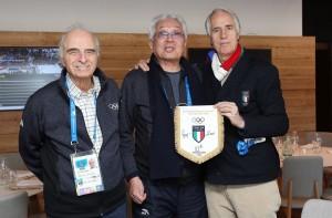 Due presidenti del CONI: a dx l'attuale Giovanni Malagò, a sx l'onnipresente Mario Pescante (pagina Facebook CONI)