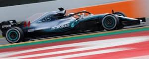 Mercedes W09 di Hamilton