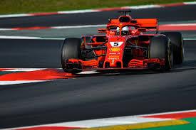 Vettel con la SF71H