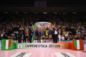 Lapremiazionedell'Imoco campione d'Italia (Foto Rubin/LVF)
